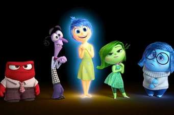 Characters from Disney's Inside Out movie